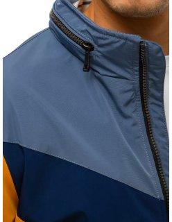 Modrá pánska vesta prešívaná