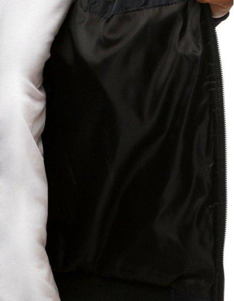 Čierna pánska prešívaná bomber bunda