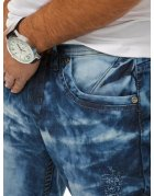 Modré pánske džínsové nohavice