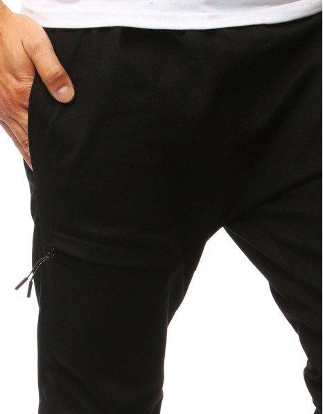 Čierne pánske jogger nohavice