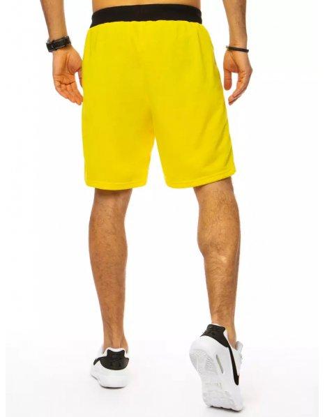 Žlté pánske teplákové kraťasy
