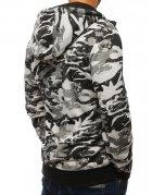 Pánska rozopínateľná svetlošedá maskáčocá bunda s kapucňou