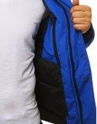 Modrá pánska zimná bunda
