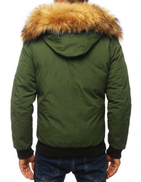 Khaki pánska zimná bunda