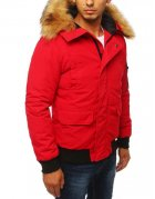 Červená pánska zimná bunda