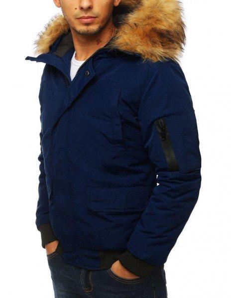 Tmavomodrá pánska zimná bunda