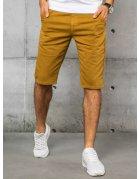 Horčicové pánske džínsové kraťasy