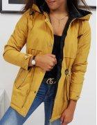 Hnedá dámska obojstranná bunda Olivia