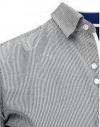 Bielo-čierna pásikavá pánska košela