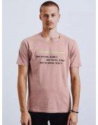 Ružové pánske tričko s potlačou