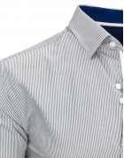 Bielo-šedá pásikavá pánska košela