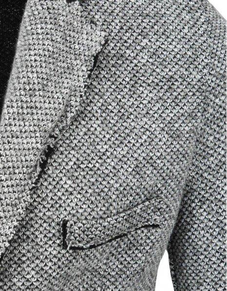 Šedé pánske sako