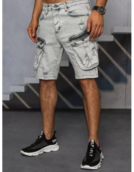 Svetlošedé pánske džínsové tričko
