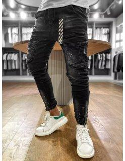 Semišové športové čierne topánky
