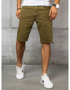 Zelené pánske džínsové kraťasy
