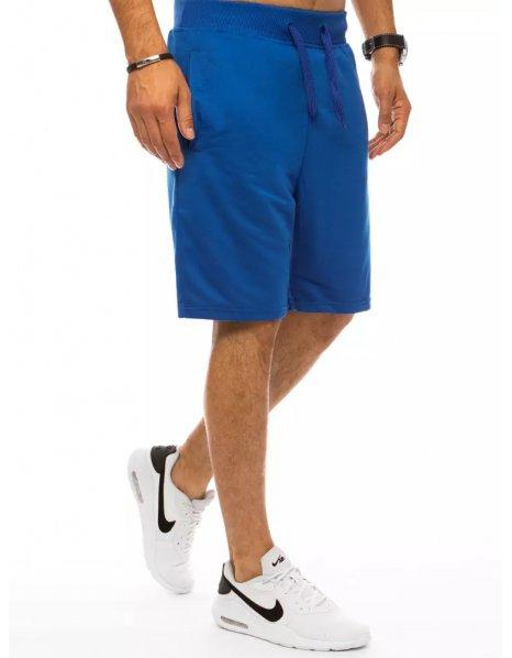 Modré pánske teplákové kraťasy