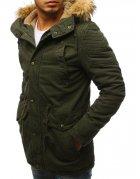 Zelená pánska párka zimná bunda