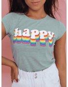 Mätové dámske tričko Happy