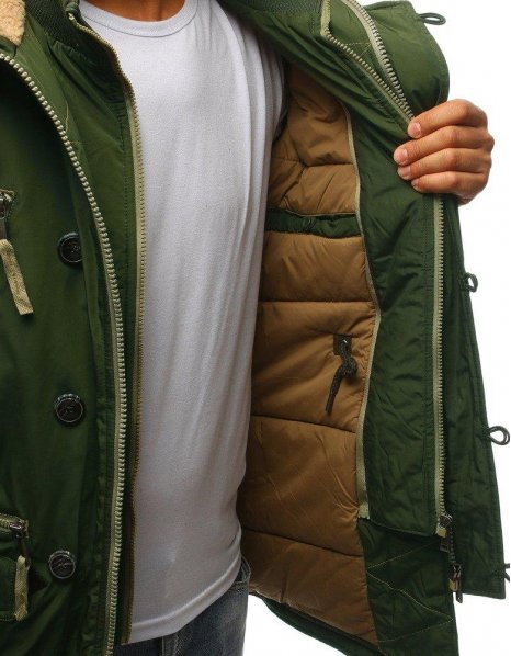 Zelená pánska párka bunda