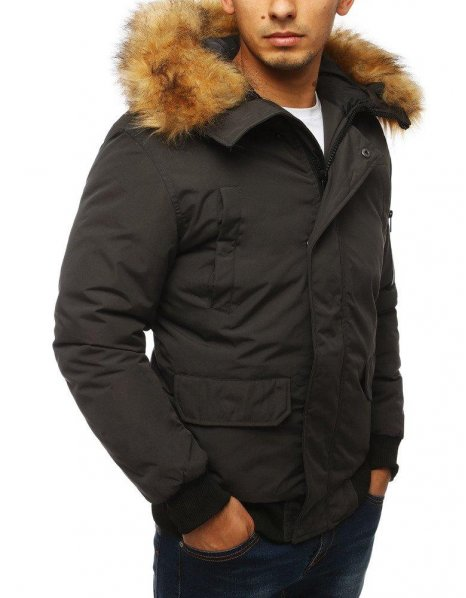 Antracitová pánska zimná bunda