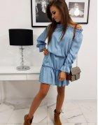Modré džínsové šaty Ever