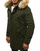 Zimná pánska párka khaki bunda