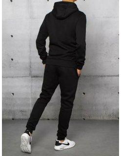 Semišové viazané čierne topánky