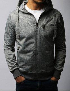 Čierna mikina Confident Style s kapucňou
