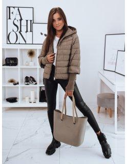 Tmavomodrá pánska prešívaná zimná bunda s vreckom na rukáe