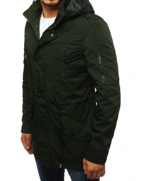 Zelená prešívaná pánska bunda