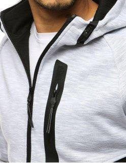 Čierna mikina so šedým predným dielom