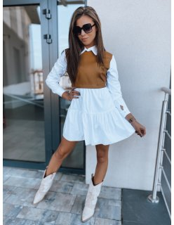 Tmavomodré šaty Giovanna kockované