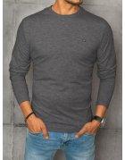 Antracitové pánska tričko s dlhým rukávom