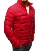 Červená pánska prešívaná bunda