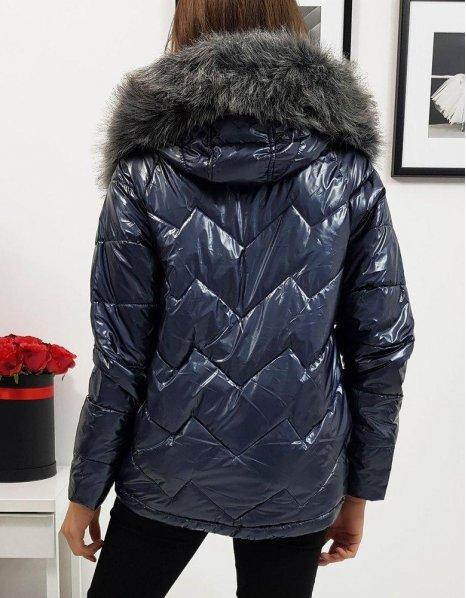 Tmavomodrá dámska zimná bunda Venice