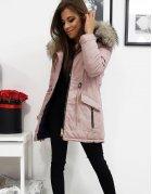 Ružová obojstranná dámska párka bunda Dalia