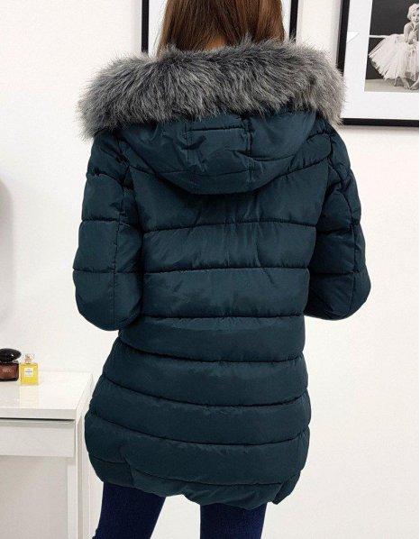 Zimná prešívaná dámska bunda Colin zelená