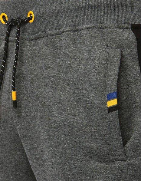 Antracitové teplákové pánske jogger nohavice