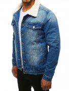 Modrá pánska džínsová bunda