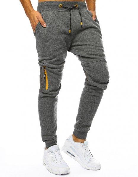 Antracitové pánske teplákové jogger nohavice