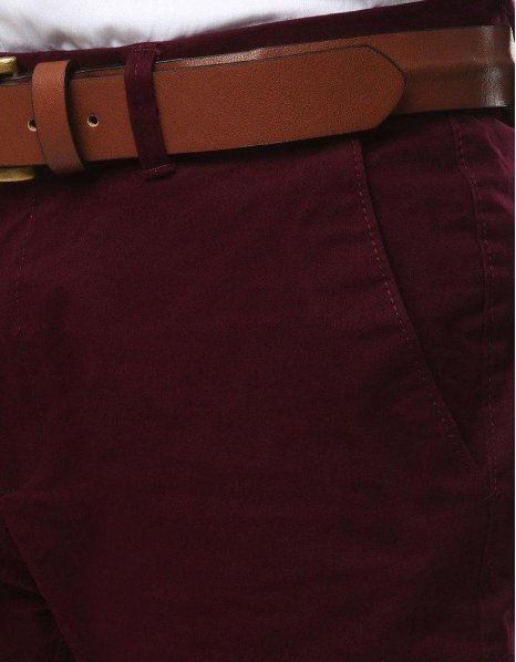 Pánska chinos nohavice bordové