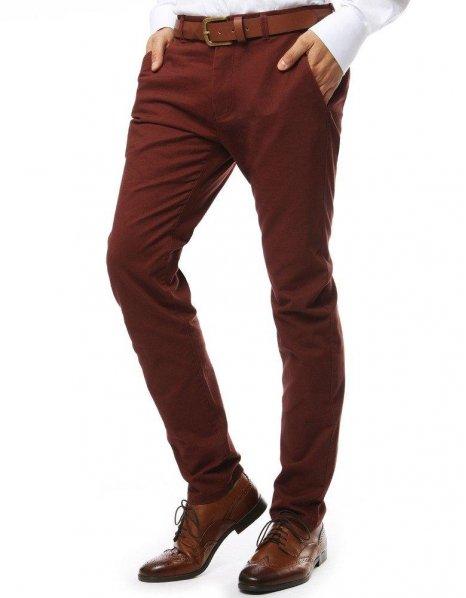 Pánska chinos nohavice červené