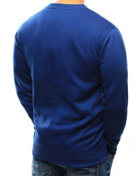 Modrá hladká pánska mikina