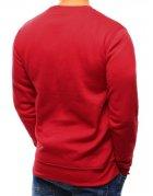 Červená hladká pánska mikina