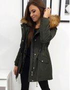 Dámska zimná bunda Simone olivová