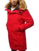 Červená pánska párka zimná bunda