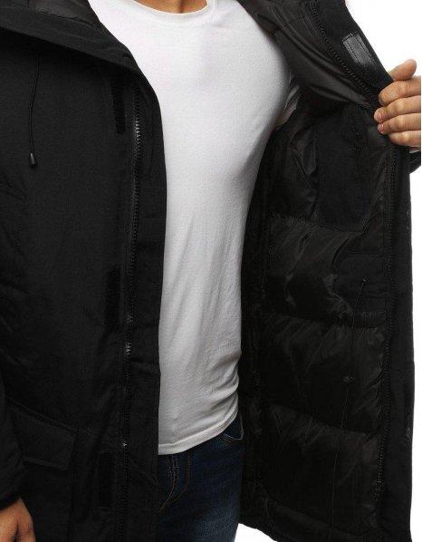 Čierna pánska párka zimná bunda