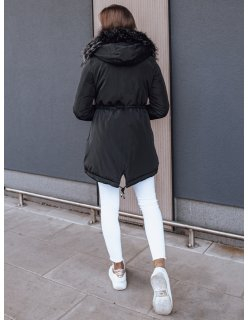 Tmavomodrá zimná prešívaná bunda