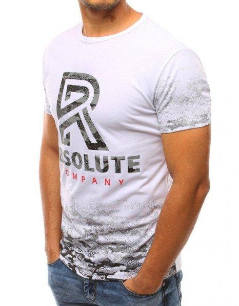 Pánske biele tričko s potlačou