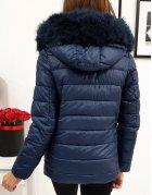 Dámska prešívaná tmavomodrá zimná bunda Sara